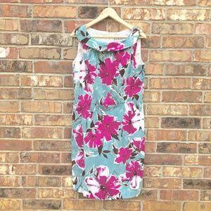 Karin Stevens Size 12 Floral Tropical Print Dress